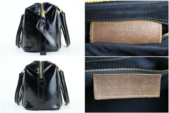 Balenciaga City Boston Speedy Satchel Suede Shoulder Bag Image 5