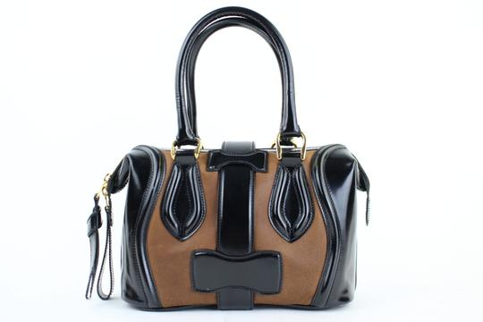 Balenciaga City Boston Speedy Satchel Suede Shoulder Bag Image 9