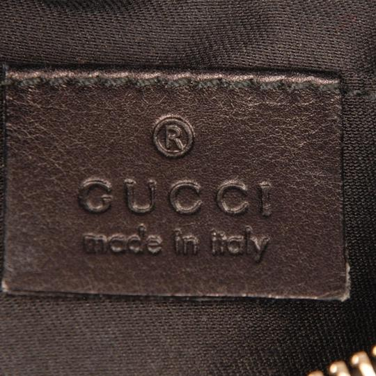 Gucci Gold Hardware Leather Evening Bags Classic Wristlet in Black Image 10