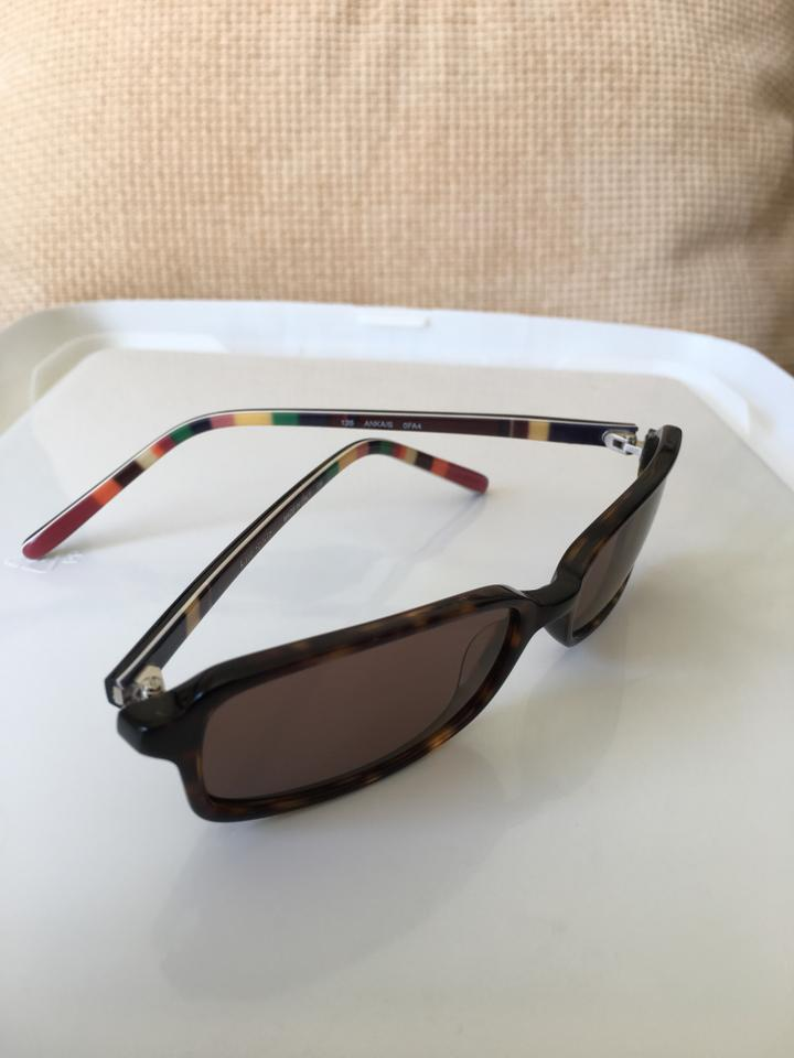 Kate Spade Dark Brown/Multicolor Eyeglass Frames W/ Leather Case ...