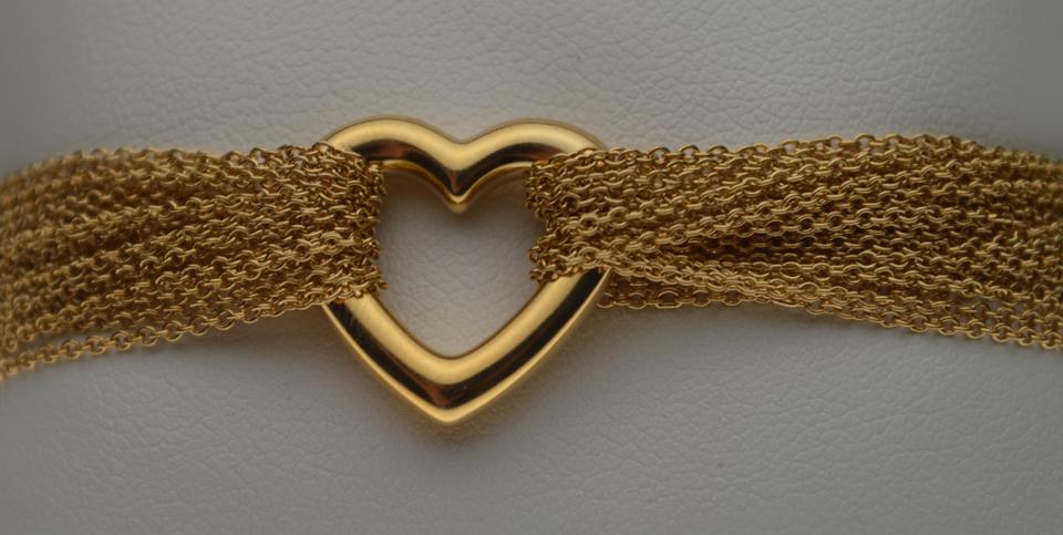 706d34433 Tiffany & Co. 18k Yellow Gold Open Heart Multi-strand Mesh Collection  Bracelet