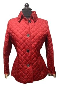 Burberry Red. Leather Jacket