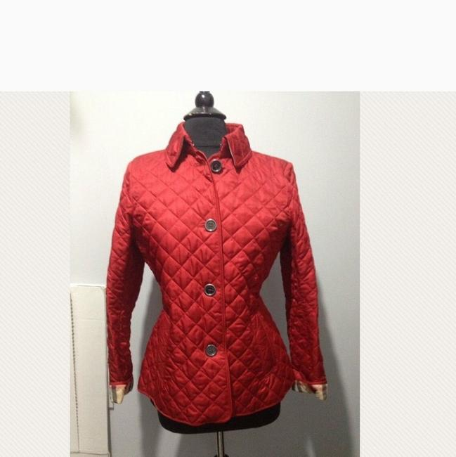 Burberry Red. Leather Jacket Image 1
