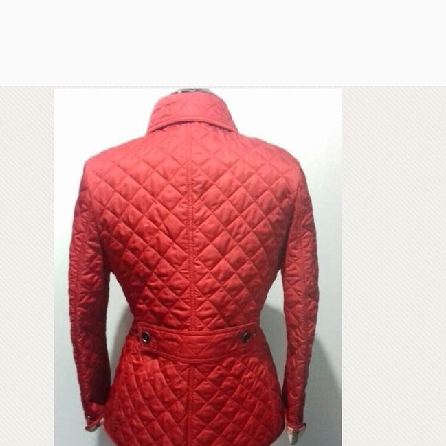 Burberry Red. Leather Jacket Image 2