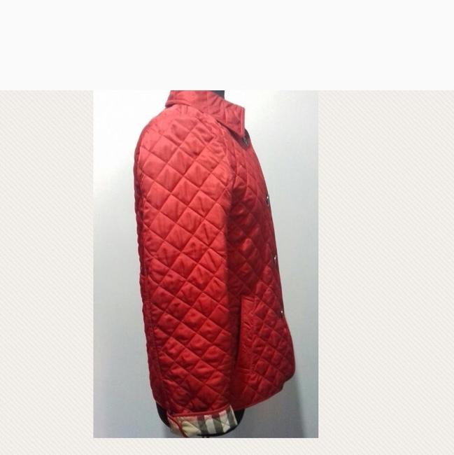 Burberry Red. Leather Jacket Image 3
