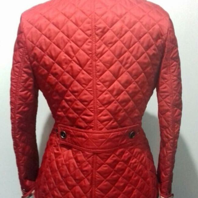 Burberry Red. Leather Jacket Image 5