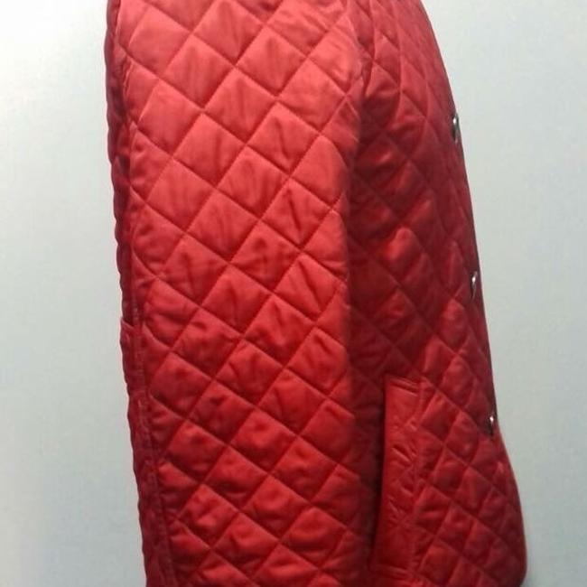Burberry Red. Leather Jacket Image 6