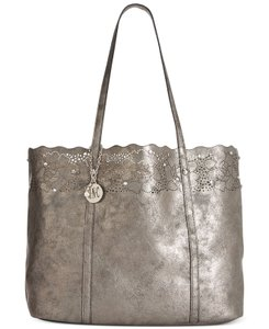 INC International Concepts Macy's Metallic Tote in Gold/Black