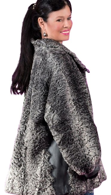Item - Gray Snow Swakira Karakul Persian Lamb Afghan Jacket Large Coat Size 14 (L)