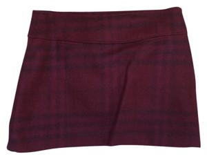 Burberry Plaid Mini Skirt Purple, plum, Eggplant