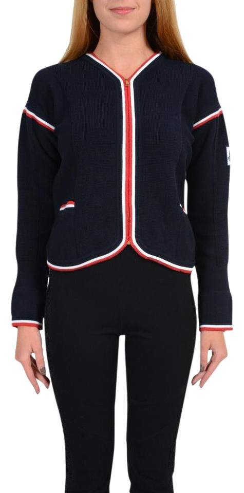 9465744ef Moncler Multi-color Gamme Bleu Women s Full Zip Knitted Sweater ...