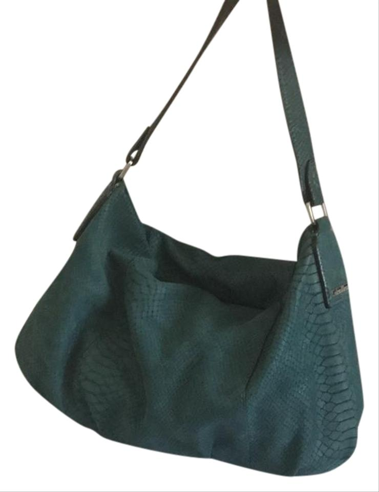 Calvin Klein Dark Teal Green Suede Leather Hobo Bag - Tradesy 8078e909c75eb