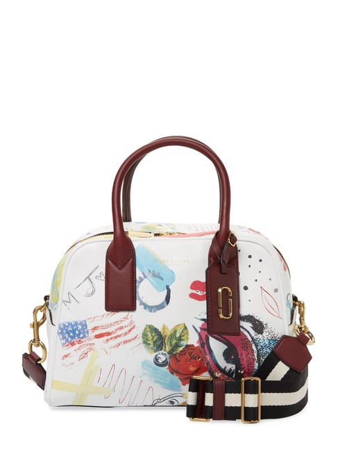 Item - Collage Print Bauletto Multicolor Leather Satchel