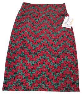 LuLaRoe Skirt Red/Green/Purple