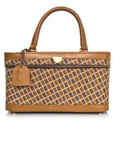 Diane von Furstenberg Train Case Luggage tan Travel Bag