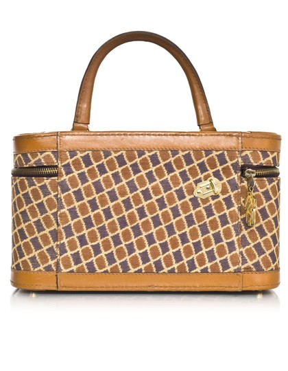 Diane von Furstenberg Train Case Luggage tan Travel Bag Image 2