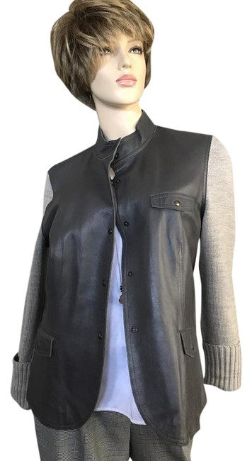 Preload https://img-static.tradesy.com/item/22097737/jones-new-york-taupegrey-leather-with-sweater-knit-sleeves-size-14-l-0-1-650-650.jpg
