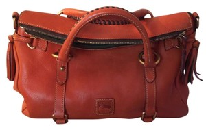 Dooney & Bourke Leather Satchel in Orange