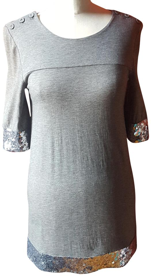 51c2b5020e7c Juicy Couture Silver Gray Sequin Short Night Out Dress Size 4 (S ...