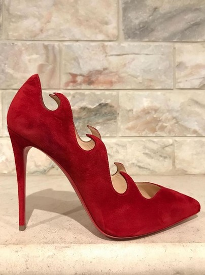 Christian Louboutin Olavague Stiletto Classic Pigalle Red Pumps Image 3