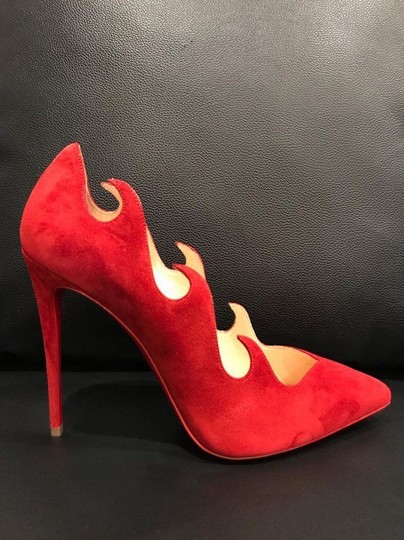 Christian Louboutin Olavague Stiletto Classic Pigalle Red Pumps Image 4