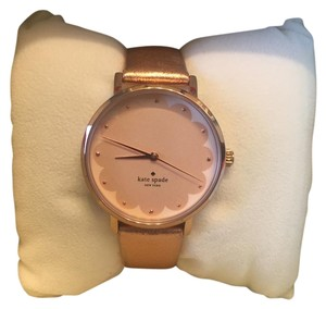 Kate Spade NWT Kate Spade Metro Rose Gold Leather Watch
