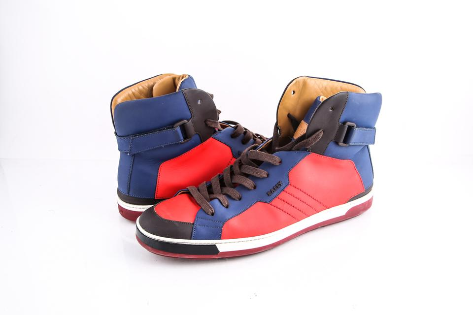 870bfd4a6412 Bally Red Blue   High Top Multicolor Sneakers Shoes Image 0 ...