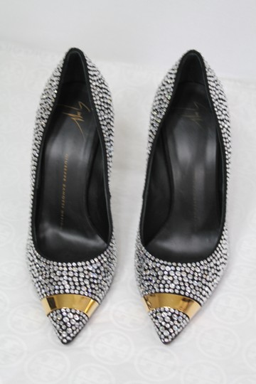 Giuseppe Zanotti Sexy Embellished Party Evening Black gold crystal Formal Image 4