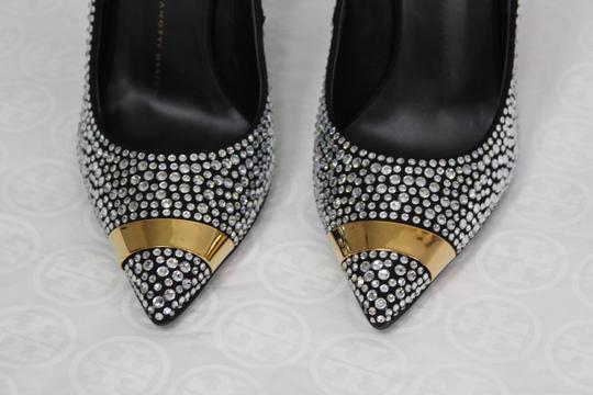 Giuseppe Zanotti Sexy Embellished Party Evening Black gold crystal Formal Image 5