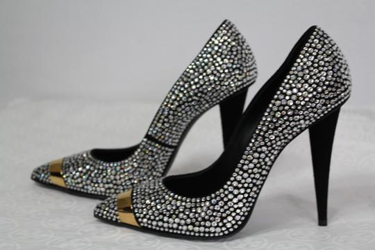Giuseppe Zanotti Sexy Embellished Party Evening Black gold crystal Formal Image 6
