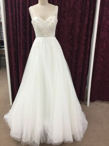 Pronovias Off White Morbido Tulle Parfait Modern Wedding Dress Size 6 (S)