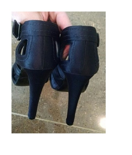 Givenchy Cut-out Satin Black Boots Image 5