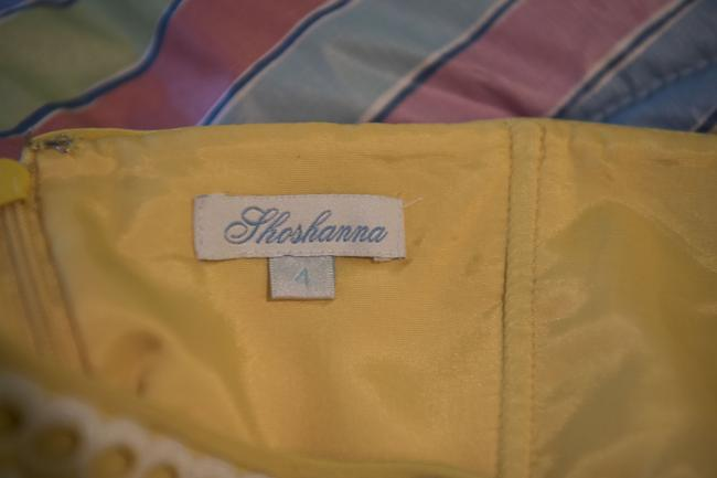 Shoshanna short dress Yellow with embroidered white detail Silk Strapless Mid-length Flirty on Tradesy Image 6