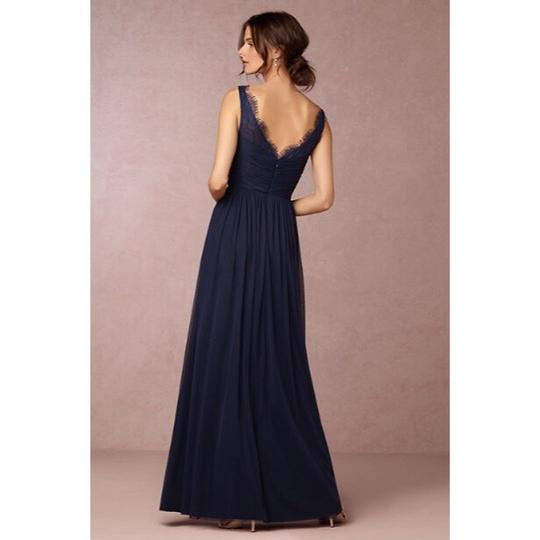 BHLDN Navy Nylon Tulle Lace; Polyester Lining Fleur Traditional Bridesmaid/Mob Dress Size 4 (S) Image 1