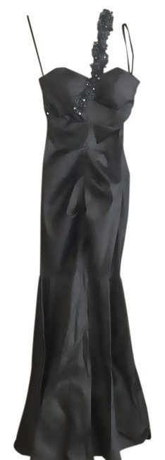 Item - Charcoal Gray Style #x9410 Long Formal Dress Size 10 (M)