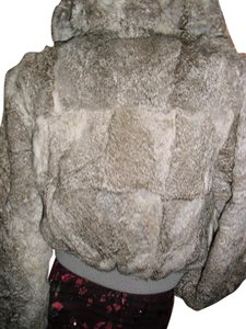 Genuine Rabbit Fur all shades of gray Jacket
