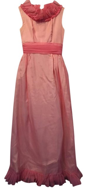 Preload https://img-static.tradesy.com/item/22099074/vintage-bubblegum-pink-long-formal-dress-size-0-xs-0-2-650-650.jpg