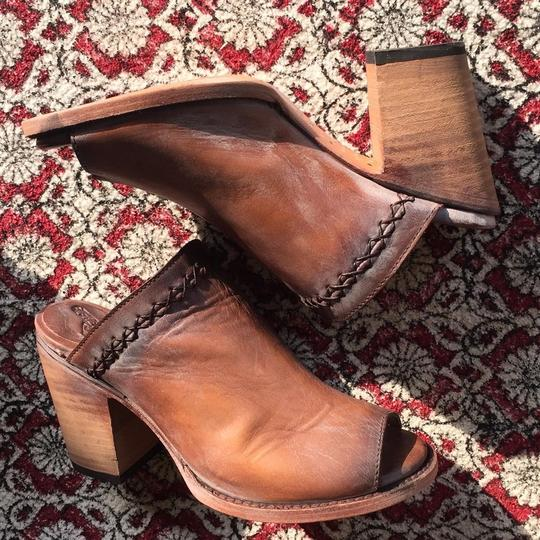 FreeBird By Steven Bambi Hand Distressed 8 Cognac Mules Image 7