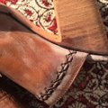 FreeBird By Steven Bambi Hand Distressed 8 Cognac Mules Image 8