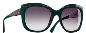 Chanel 5347 CC Square Butterfly Signature Oversized Classic Tweed Dark Green