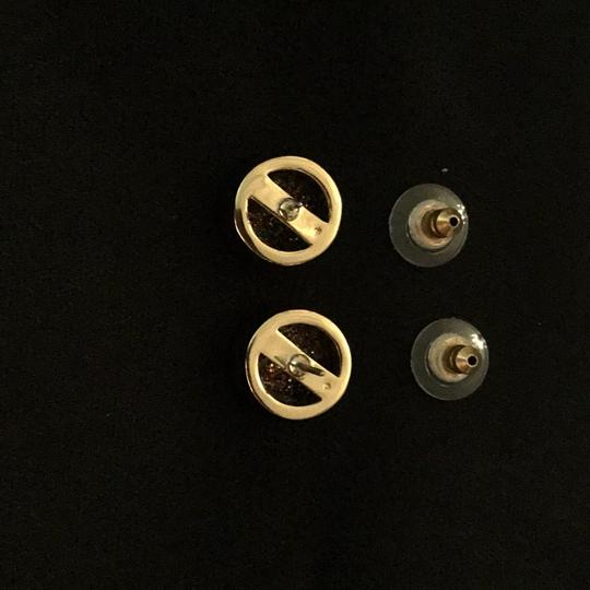 Kate Spade Glitter Round Studs in Goldtone Setting Image 3