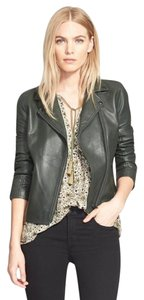 Truth and Pride Doma Biker Moto HUNTER GREEN Leather Jacket