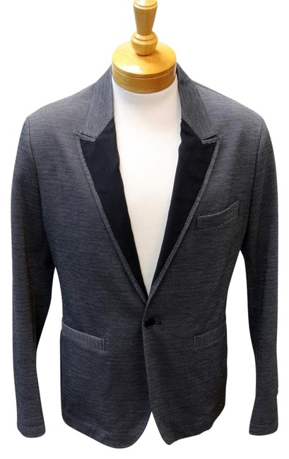 Item - Grey Signature Black Label Peak Lapel Houndstooth Evening Luxury Coat Tuxedo