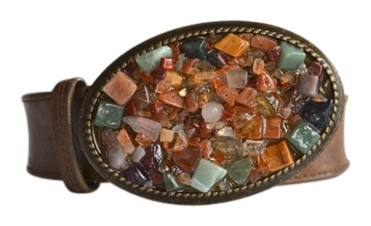 Preload https://item3.tradesy.com/images/bloomingdale-s-brown-rustic-stone-buckle-size-small-belt-2210027-0-0.jpg?width=440&height=440