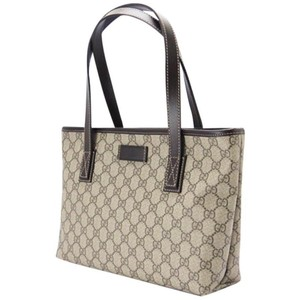 2c3c9b605a878f Gucci Tote in brown. Gucci. Gg Leather Brown Tote Bag