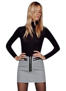 Reformation Zippers Vintage Mini Skirt Houndstooth