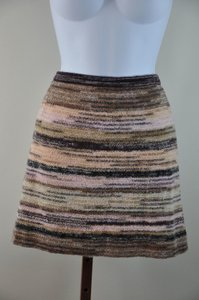 Missoni Tweed Mini Skirt Multi Browns