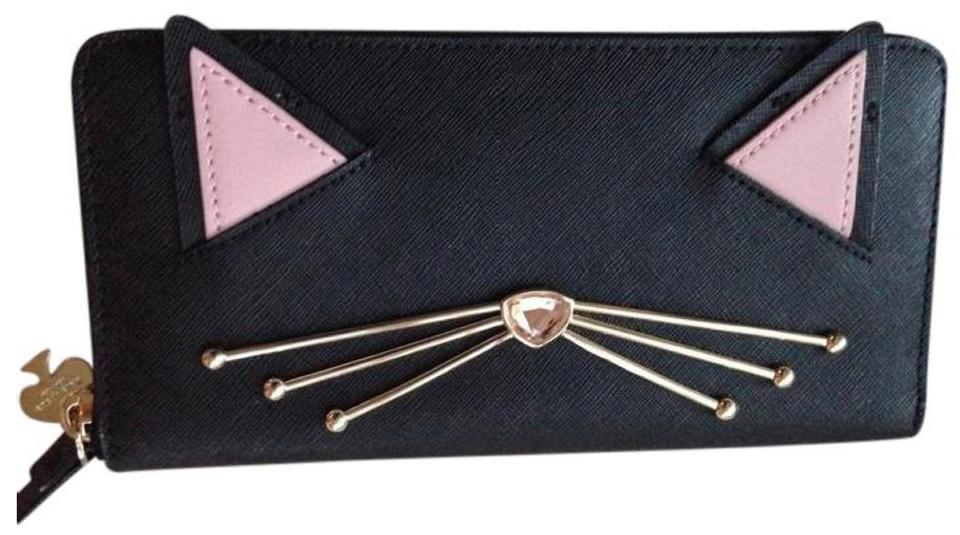 Kate Spade 10 Off Nwt Jazz Thing Up Cat Leather Wallet