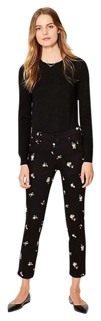 Item - Black / Floral Embroidered (Nwt) Skinny Crop Capri/Cropped Jeans Size 27 (4, S)