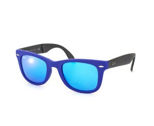 Ray-Ban Sunglasses Ray-Ban RB 4105 602017 MATTE folding blue wayfarer